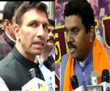 VIDEO: भाजपा सांसद महेंद्र सोलंकी और मंत्री जीतू पटवारी के बीच नोक-झोंक
