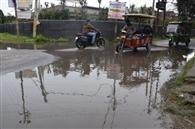 झमाझम बारिश से शहर में हुआ जलभराव