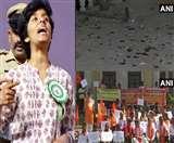 अमूल्या के विरोध में बेंगलुरु में प्रदर्शन जारी, घर पर भी हुआ हमला
