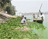 बदरंग हुआ गोरखपुर का जूहू चौपाटी, जलकुंभी से पटा रामगढ़ताल Gorakhpur News