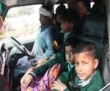 खटारा गाड़ी में ठूस-ठूस कर भरे थे 18 बच्चे, ना फर्स्ट एड किट और ना ही अग्निशमन यंत्र Ludhiana News
