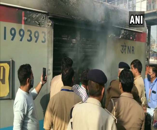Lucknow-bound Shatabdi Express at Ghaziabad station on Saturday_ ANI