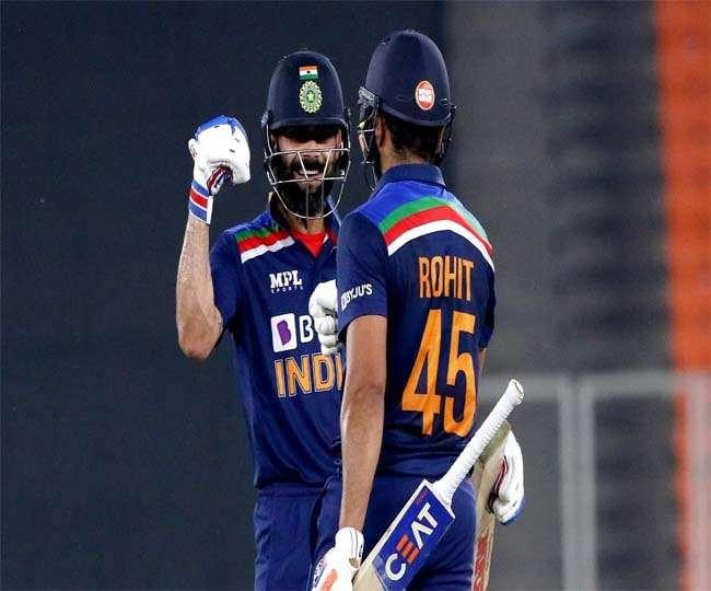 टीम इंडिया के कप्तान विराट कोहली के साथ रोहित शर्मा (एपी फोटो)