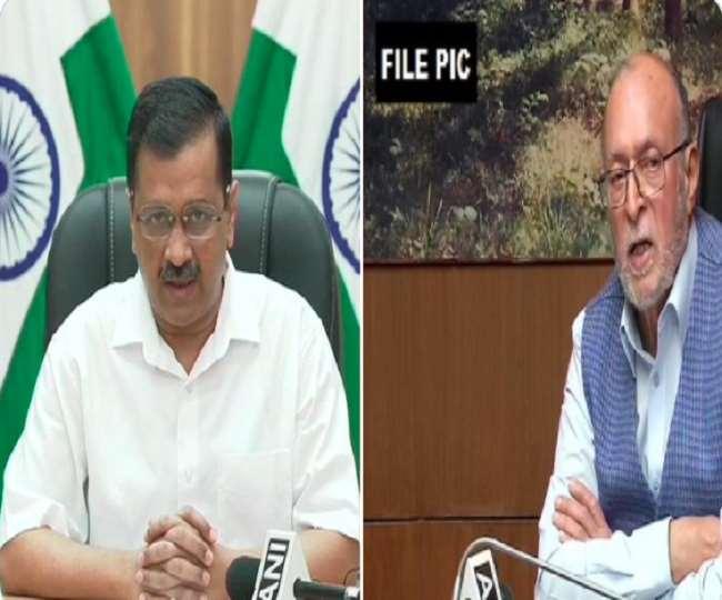 दिल्ली के मुख्यमंत्री अरविंद केजरीवाल और उपराज्यपाल अनिल बैजल की फाइल फोटो।