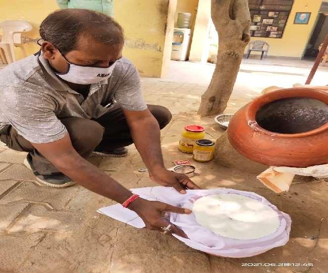 'अनादि' देशी घी, वह भी बिल्व पत्र के साथ माटी की हांडी में पका हुआ