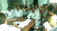 दुर्गापूजा को लेकर थाने पर शांति समिति की हुई बैठक
