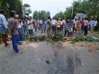 सड़क दुर्घटना में अधेड़ की मौत, हंगामा
