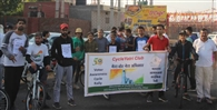 एचएयू के साइकिल क्लब ने साइकिल यात्रा निकाल मतदाताओं को किया प्रेरित