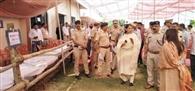 शांतिपूर्ण व निष्पक्ष चुनाव के लिए सुरक्षा बलों ने गुहला में निकाला फ्लैग मार्च