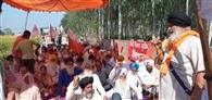 किसानों-मजदूरों का धरना दूसरे दिन भी जारी