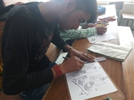 चित्रकला प्रतियोगिता में संतोष कुमार विजेता