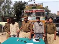 अयोध्या से चोरी का ट्रक में बरामद, दो गिरफ्तार