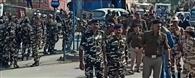 नेपाल सीमा पर काम्बिंग, नगर में फ्लैग मार्च
