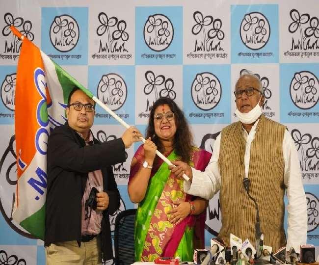 भाजपा सांसद की पत्नी ने थामा तृणमूल का दामन, पति-पत्नी में बढ़ा विवाद, सौमित्र खान ने भेजा तलाक नोटिस