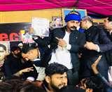 CAA को लेकर शहीन बाग में विरोध-प्रदर्शन में पहुंचे भीम आर्मी प्रमुख चंद्रशेखर