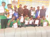 झारखंड तीरंदाज टीम के खिलाडियों का स्वागत