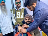 300 बच्चों को पिलाई पोलियो रोधी बूंदें