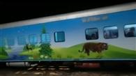 तिकुनिया से गुजरी हेरिटेज ट्रेन, देखने को उमड़ी भीड़
