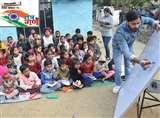 गरीबों की झोपड़ी में शिक्षा की लौ जगा रहे हर्षित और तान्या, मलिन बस्ती में खोला फ्री स्कूल Kanpur News