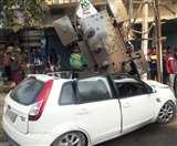 पांडेयपुर में देर रात कार ने ट्रांसफार्मर में मारी जोरदार टक्कर, कार और ट्रांसफार्मर दोनों क्षतिग्रस्त