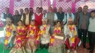 परिषद ने कराया तीन कन्याओं का सामूहिक विवाह