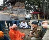 इंदौरा में तोड़ दिया वर्षों पुराना मंदिर, कुटिया में रह रहे साधु पर लोगों का उकसाने का आरोप Kangra News