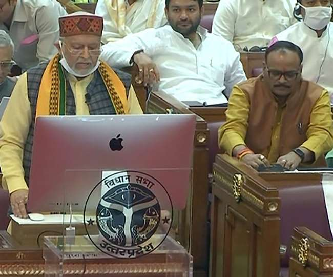 वित्त मंत्री सुरेश कुमार खन्ना -सीएम योगी आदित्यनाथ ।
