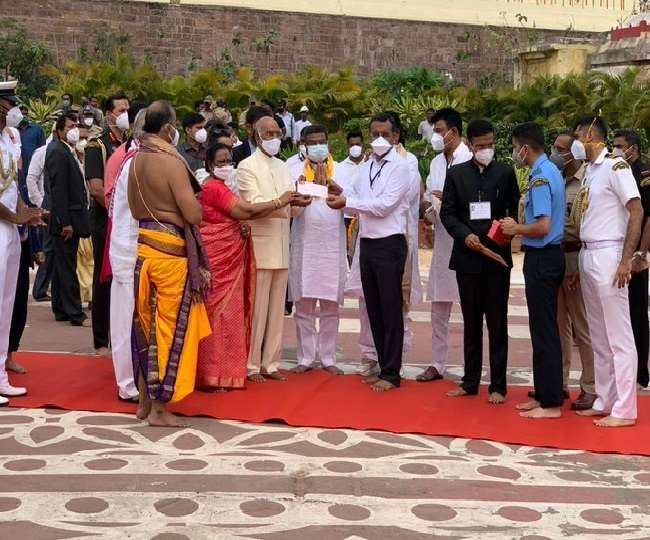 राष्ट्रपति रामनाथ कोविन्द ने पत्नी संग श्री जगन्नाथ धाम के विकास के लिए दिया 1 लाख का योगदान