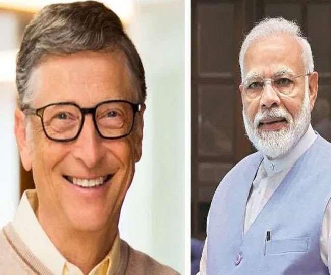 भारत में कोविड-19 से लड़ाई में नेतृत्व के लिए बिल गेट्स ने की पीएम मोदी की सराहना