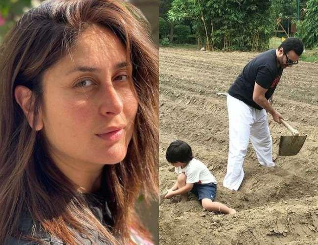 Kareena Kapoor Khan, Taimur Ali Khan, Saif Ali Khan. Photo- Instagram