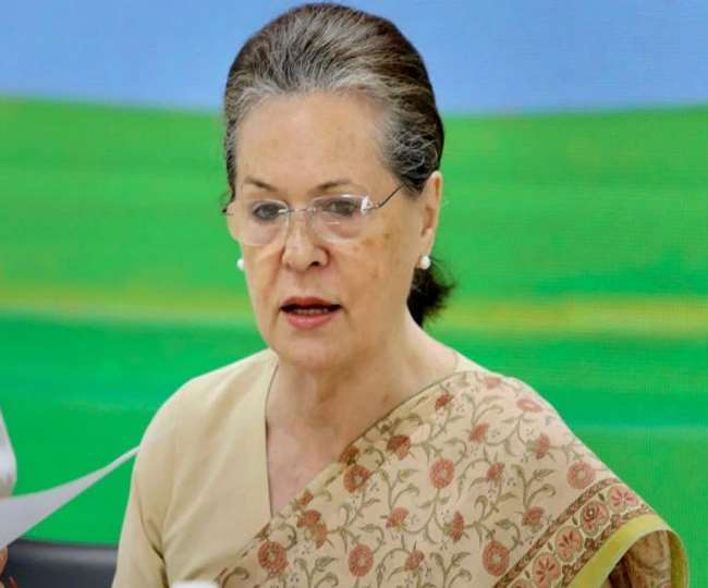 कांग्रेस अध्यक्ष सोनिया गांधी(Sonia Gandhi) का सरकार पर निशाना। (फोटो: दैनिक जागरण)