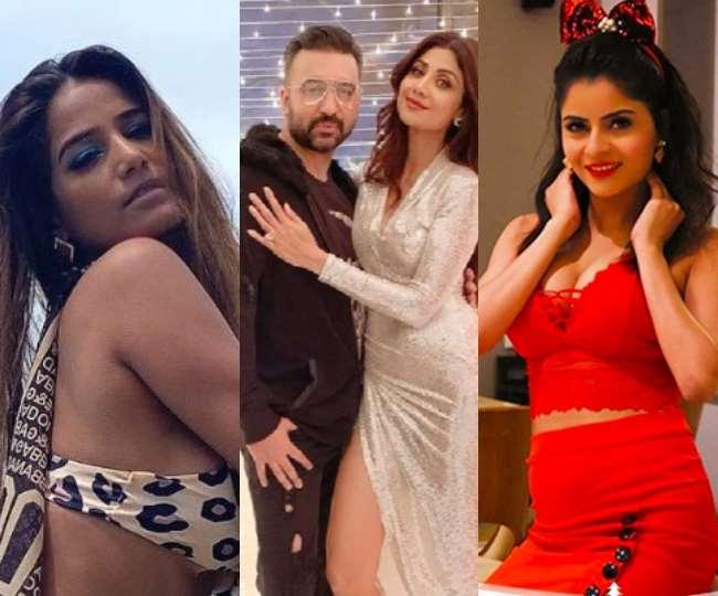 पूनम पांडे, शिल्पा शेट्टी और राज कुंद्रा, गहना वशिष्ठ, तस्वीर: @iPoonampandey/rajkundra9/gehana_vasisth