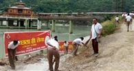 धारी देवी मंदिर क्षेत्र में चला सफाई अभियान