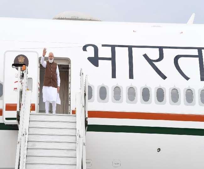 अमेरिका रवाना होते प्रधानमंत्री नरेंद्र मोदी।(फोटो: पीएमओ ट्विटर)
