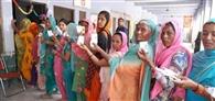 मतदान केंद्र को मुलाना पंचायत ने सजाया, वोटर भी उत्साह से पहुंचे