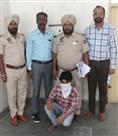 पुलिस ने भगौड़ा आरोपित किया काबू