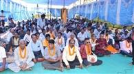 किसानों का बेमियादी क्रमिक अनशन शुरू