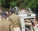 गवर्नर की सुरक्षा ड्यूटी से लौट रहे काठगोदाम एसओ की गाड़ी खाई में गिरी, दो जवानों की मौत