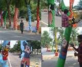 पेड़ों को रंगने पर नगर निगम को मिला नोटिस, पेंट करने से नहीं मिलती है ऑक्सीजन Lucknow News