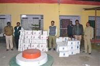 टुंडी में पांच लाख की अवैध अंग्रेजी शराब पकड़ाई, दो फरार