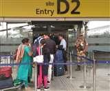 विमान से जाने वाले यात्रियों की संख्या बढ़ी तो खोलना पड़ा दूसरा प्रस्थान गेट, दोपहर में लगती है लंबी लाइन