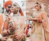 Orange And Gold Lehenga: लाल रंग हुआ पुराना अब शादी में पहनें ऐसा गोल्ड और नारंगी रंग का लहंगा!