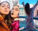 सारा अली खान न्यूयॉर्क में दोस्तों संग कर रहीं मस्ती, आ रहीं वेकेशन बोल्ड तस्वीरें