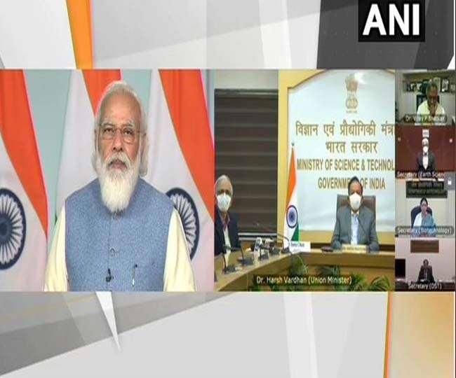 भारत अंतर्राष्ट्रीय विज्ञान महोत्सव को संबोधित कर रहे हैं पीएम मोदी