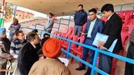 गणतंत्र दिवस की रिहर्सलों व तैयारियों का डीसी ने किया निरीक्षण
