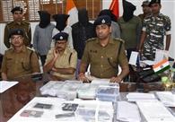 सरैया बैंक लूटकांड : पांच लुटेरा गिरफ्तार, लूट के 3.21 लाख बरामद
