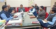 नीति आयोग द्वारा निर्धारित बिदुओं पर अफसरों ने की बैठक