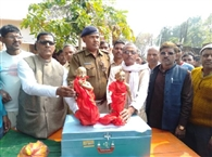 सेमौरा मंदिर से चोरी गई मूर्ति को किया गया पुनस्र्थापित