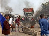 बिहार बंद समर्थक व दुकानदार भिड़े, पथराव से हाईवे पर मची भगदड़