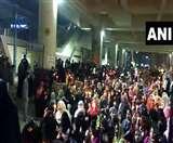 CAA Protest VIDEO: दिल्ली के जाफराबाद मेट्रो स्टेशन के पास इकठ्ठा हुईं महिलाएं, 'आजादी' के लगाए नारे